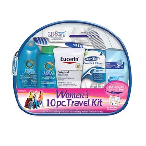 Convenience Kits Interanational, Women's Deluxe 10 PC Assembled Travel Kit Featuring: Herbal Essences Hair Products
