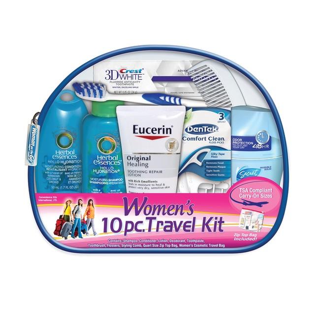 Women's Deluxe 10 PC Assembled Travel Kit