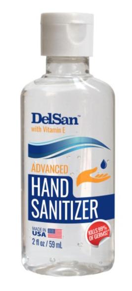 DelSan Hand Sanitizer with Vitamin E 2 oz.