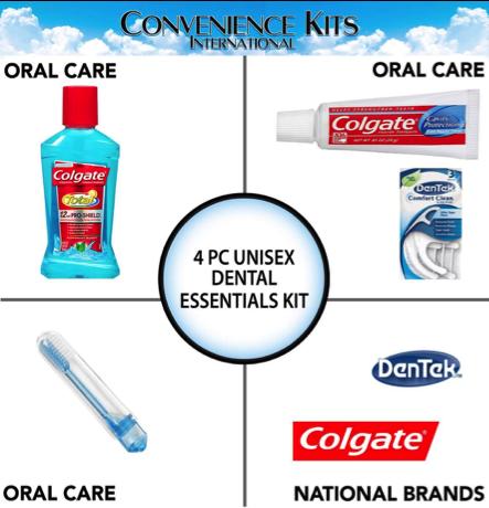 Unisex 4 Piece Dental Kit